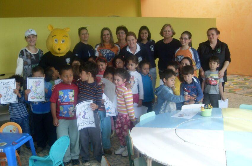 Atividades comemorativas da Semana da Criança no Território de Paz em Vacaria