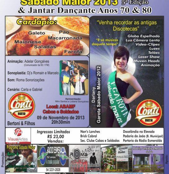 Escolha da Garota Sábado Maior edição 2013 acontece dia 9