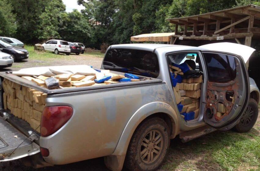 PRF apreende uma tonelada de maconha em camionete que veio do Paraná