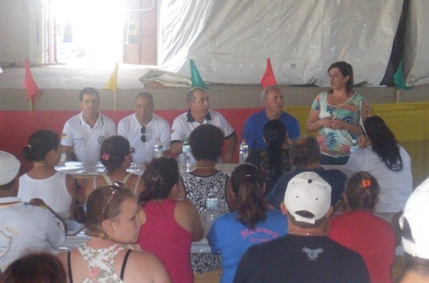 REALIZADA NO DIA DE HOJE REUNIÃO COM TENDEIROS QUE TRABALHARÃO NO  RODEIO INTERNACIONAL DE VACARIA