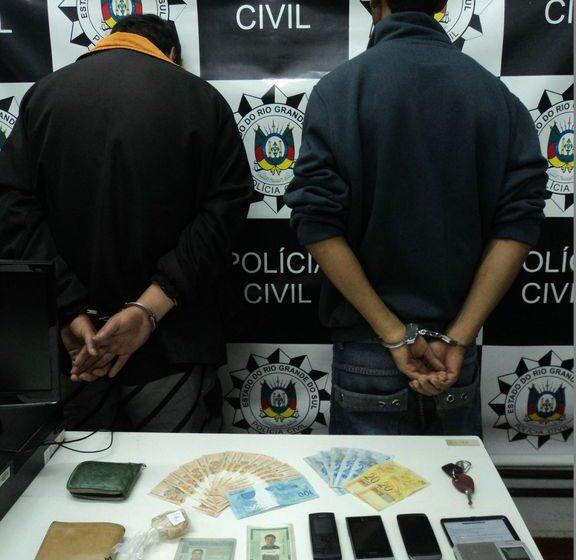 Polícia Civil de Vacaria prende traficantes que traziam drogas de Caxias do Sul