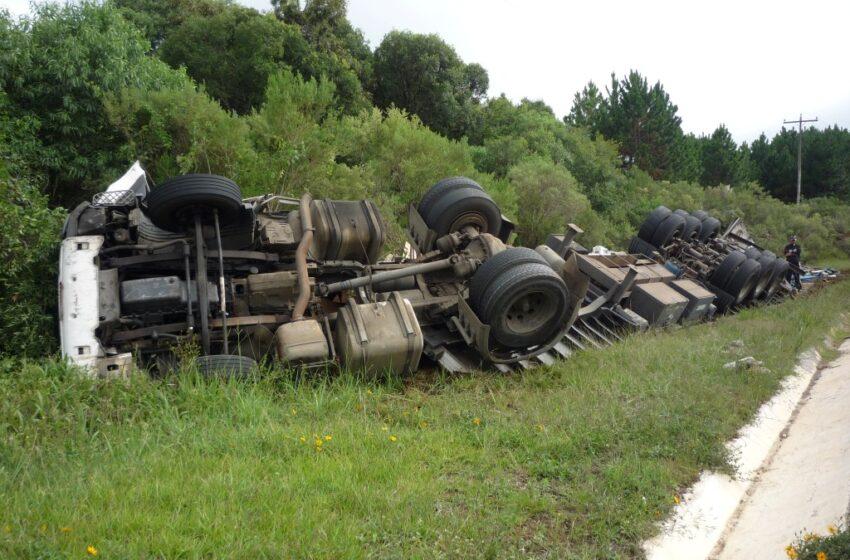 Num intervalo de 8 horas três acidentes foram registrados na BR – 116 em Vacaria