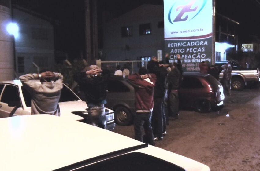 Operação Policial com todos os órgãos de Segurança do município identifica veículos que praticavam rachas na BR 116