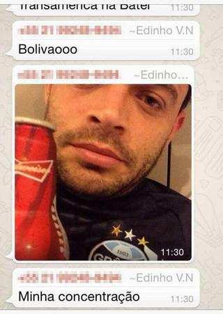 Foto de Edinho uniformizado ao lado de bebida vaza na internet; confira