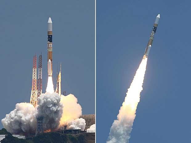 Japão lança foguete com satélite de observação de catástrofe