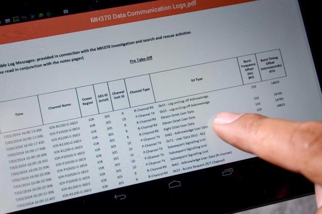 Dados de satélite do voo MH370 são divulgados
