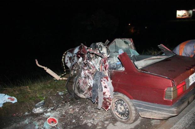 Homem morre em acidente na RSC-453, em Farroupilha, e outro fica gravemente ferido