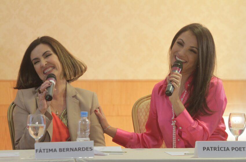 Fátima Bernardes e Patrícia Poeta rivalizam como musas da Copa