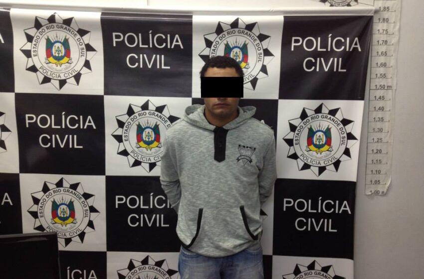 Homem suspeito de assalto a motoboy é preso na tarde de terça-feira em Vacaria
