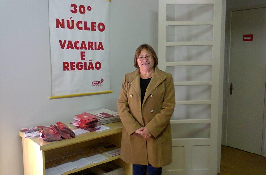Candidata à presidente do CPERS visita Vacaria