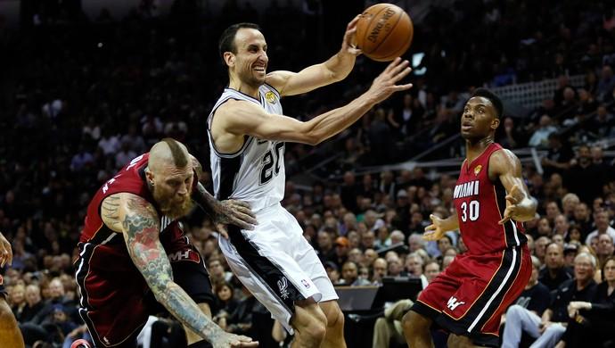 LeBron deixa quadra carregado, e Spurs batem Heat no jogo 1 das finais