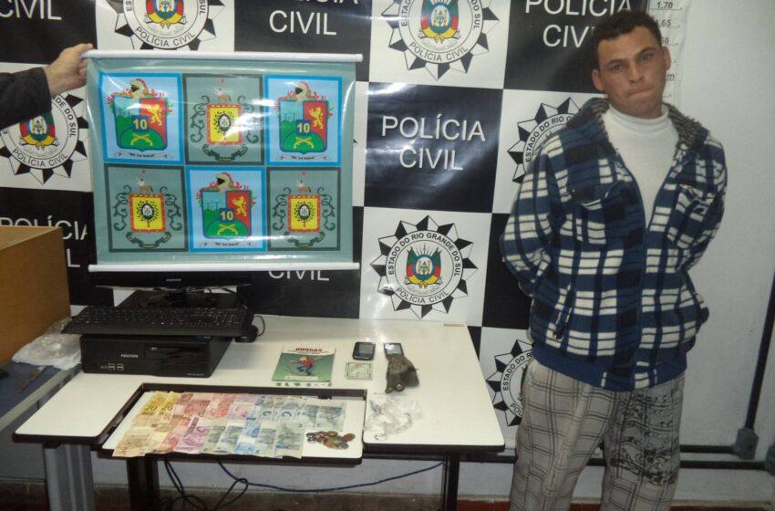 Preso homem que aliciava crianças e adolescentes para traficar drogas em Vacaria