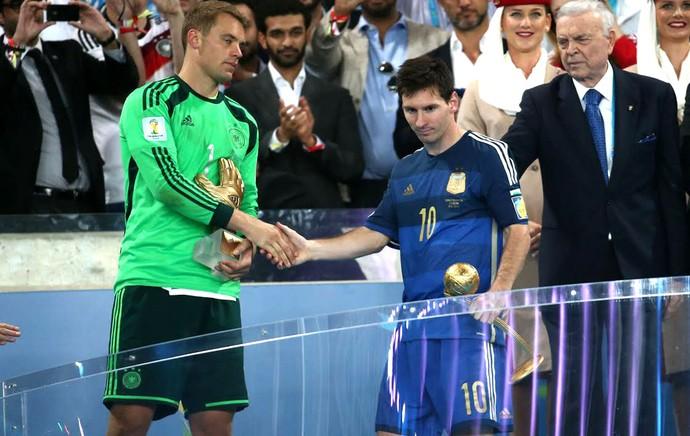 Messi leva Bola de Ouro, e Neymar fica com Chuteira de Bronze na Copa