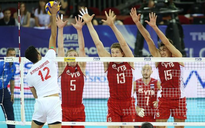 Com set de 72 pontos, Rússia bate Irã e espera o Brasil na fase final da Liga