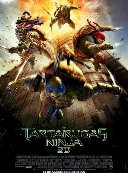 Cartaz nacional de 'As Tartarugas Ninja'