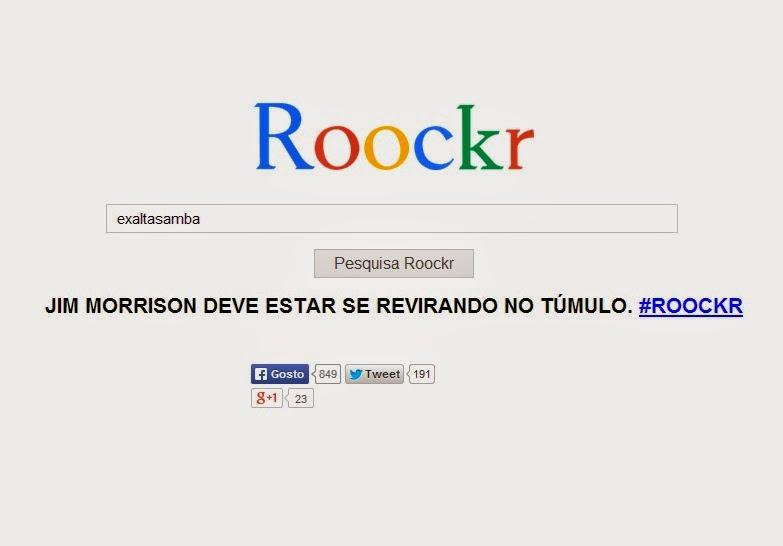 No estilo Google, site de busca só permite pesquisa de bandas de rock