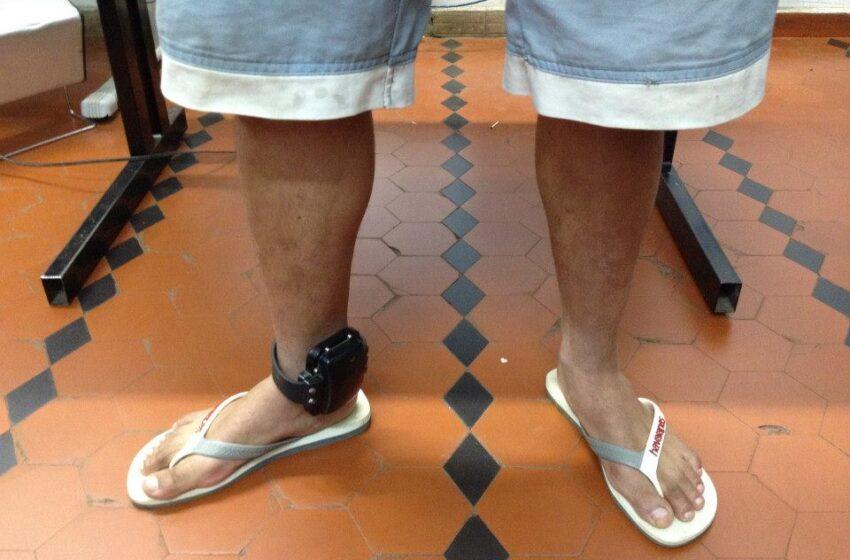 Traficante é preso usando tornozeleira eletrônica