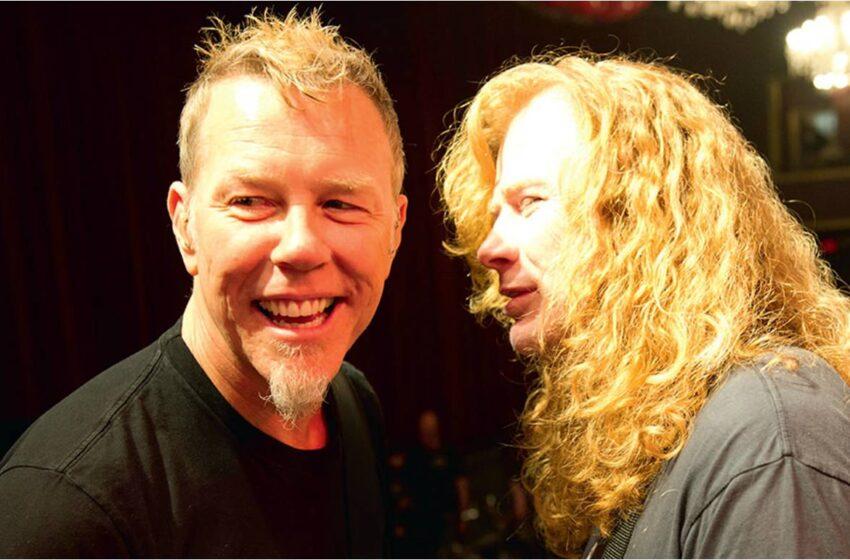 Dave Mustaine se diz arrependido de ter dado um soco na boca de James Hetfield