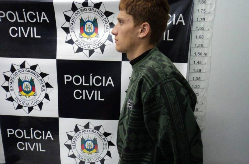 Polícia Civil de Vacaria prende um dos suspeitos de assalto no interior do município