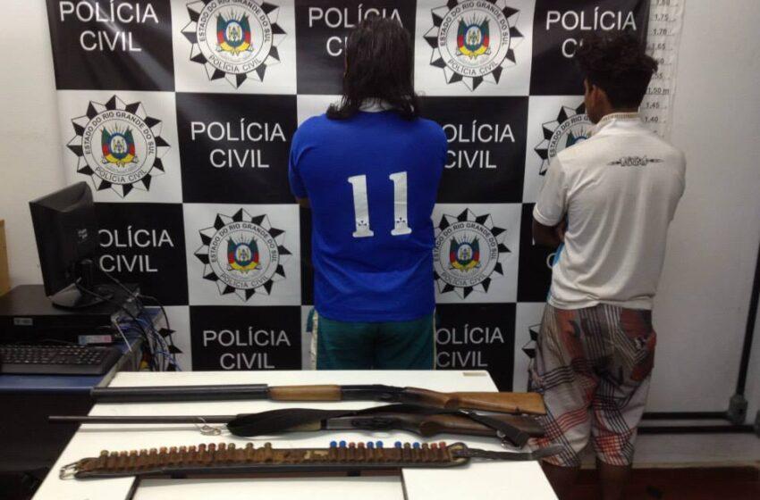 Presos suspeitos de abigeatos e furtos no interior de Vacaria