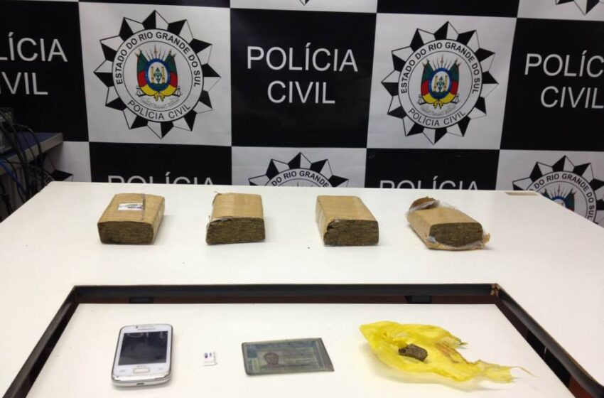 Duas pessoas presas por tráfico de drogas em Vacaria