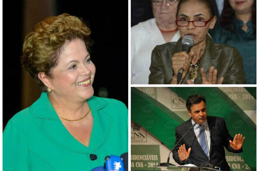 Ibope: Dilma sobe, mas Marina vence no 2º turno; Aécio cai