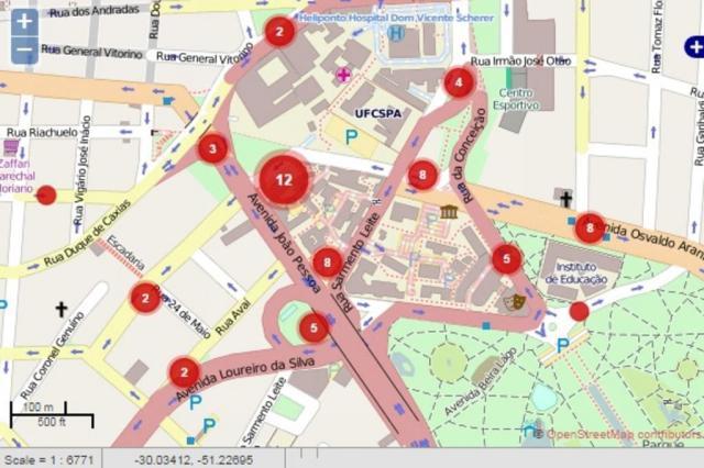Estudantes da UFRGS lançam mapa sobre segurança