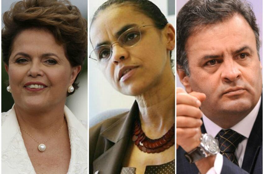 Ibope mostra Dilma com 39%, Marina com 31% e Aécio com 15%