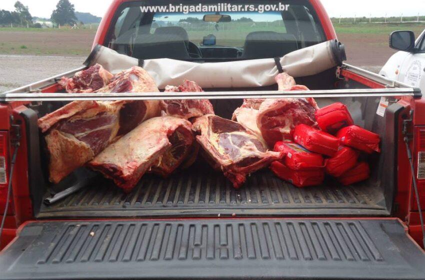 Operação policial combate carne clandestina e abigeato