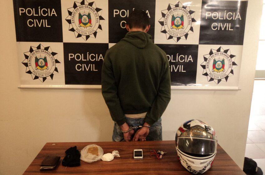 Polícia Civil prende mais um traficante