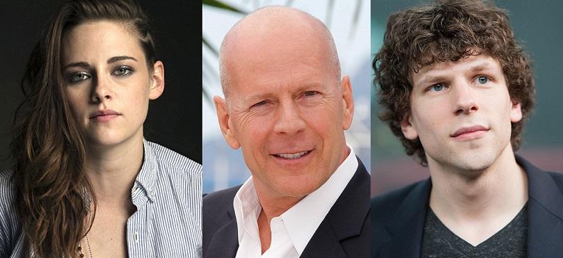 Kristen Stewart, Bruce Willis e Jesse Eisenberg estarão no próximo filme do Woody Allen
