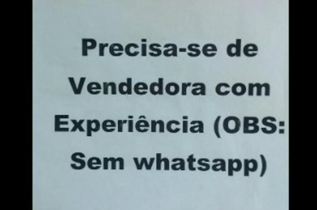 Anúncio procurando por funcionária sem WhatsApp causa polêmica