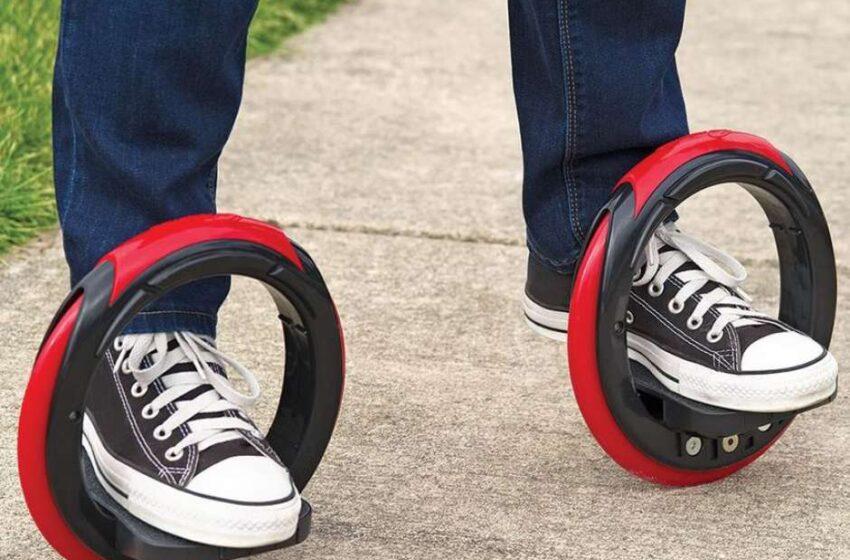 Skate circular não usa tábua e permite manobras de 720º