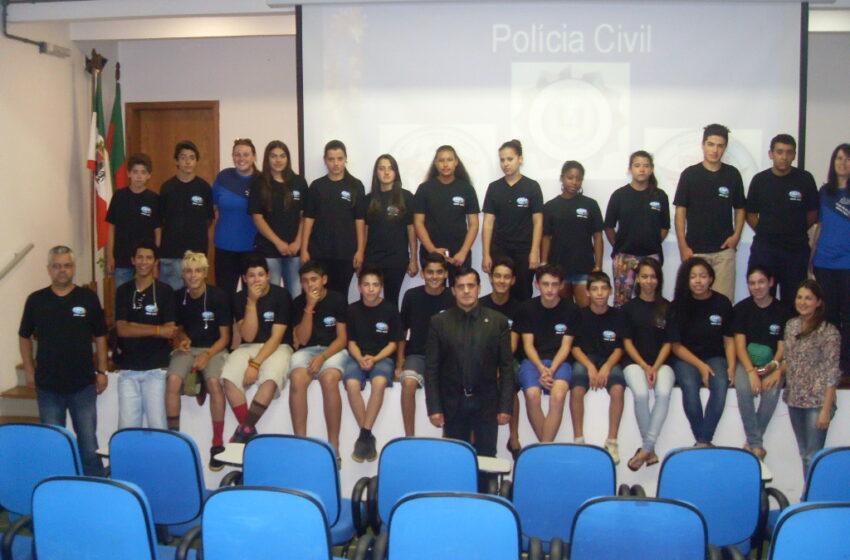 Polícia Civil em Muitos Capões realizou palestra para projeto Patrulha Cidadã do Centro de Referencia de Assistência Social – CRAS