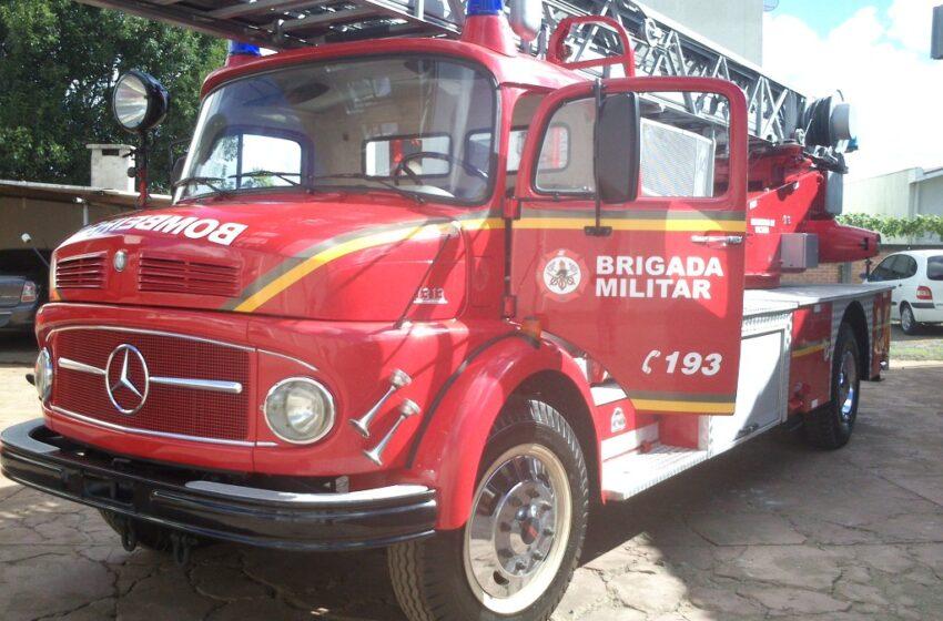 Caminhão escada dos bombeiros está de volta a Vacaria
