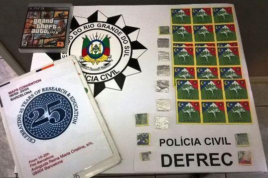 Polícia de Bagé faz maior apreensão de LSD já registrada no RS