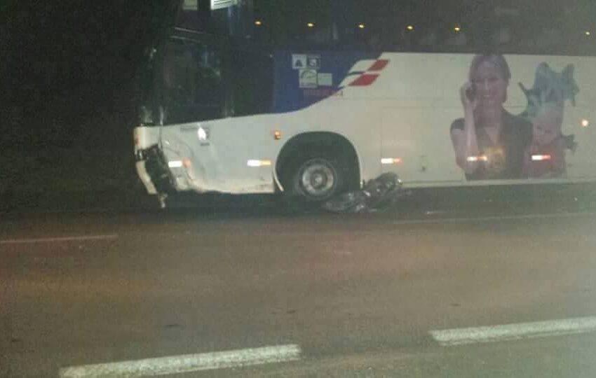 Mais um acidente envolvendo ônibus coletivo