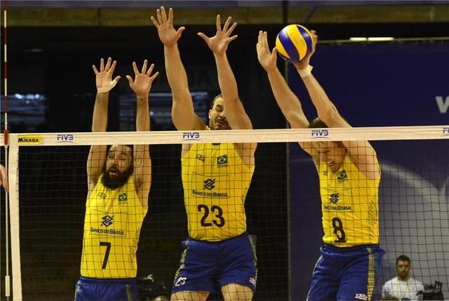 Brasil bate a Sérvia de novo e garante a segunda vitória na Liga Mundial