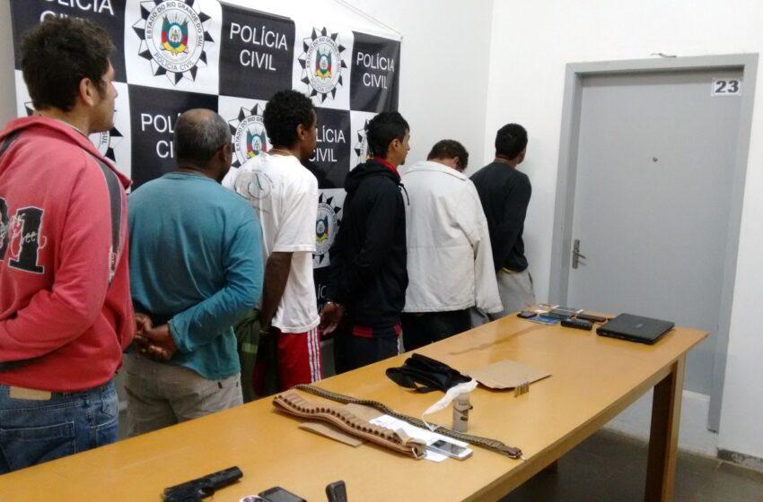 Polícia prende e desarticulada quadrilha de assaltantes