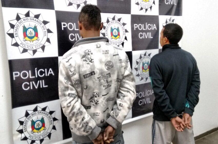 Presos suspeitos de homicídio no Bairro Municipal