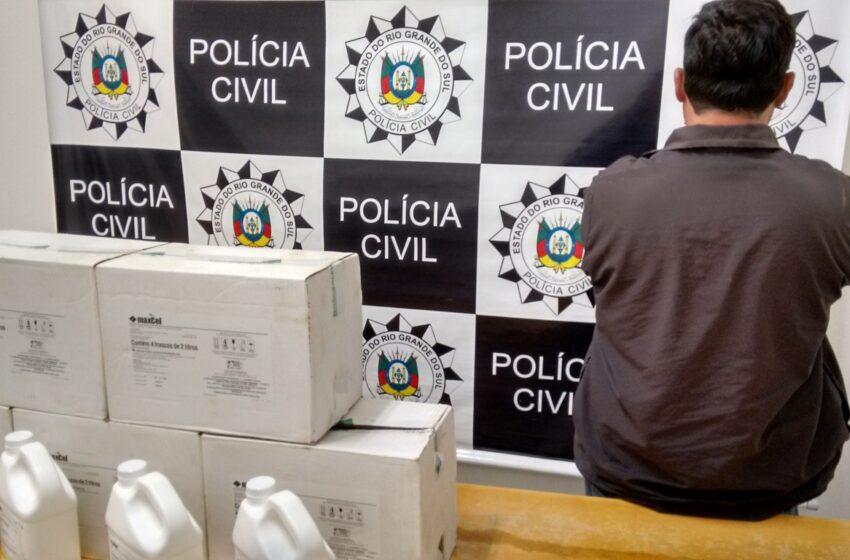 Polícia Civil de Vacaria prende receptador de defensivos agrícolas
