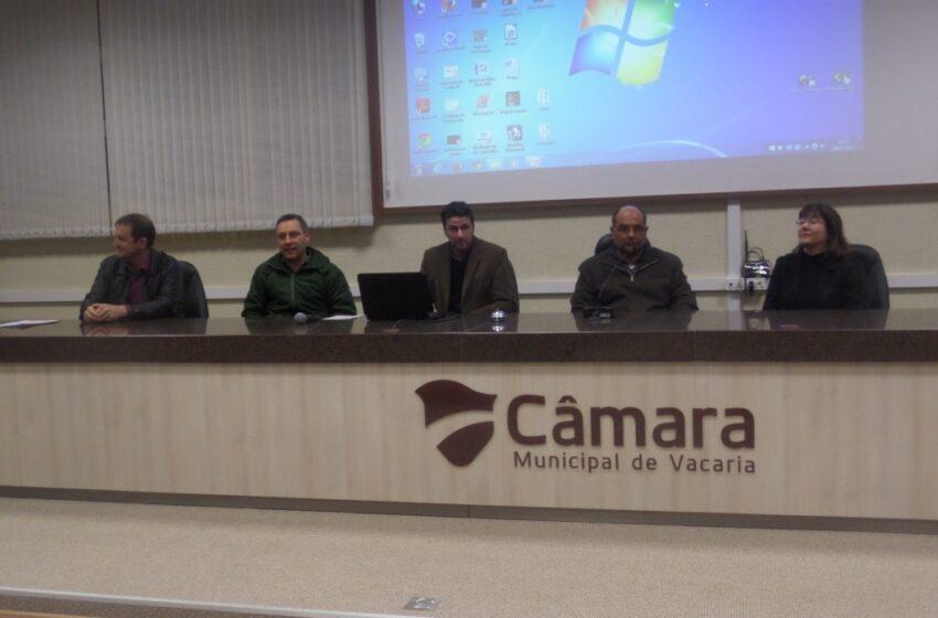 Programa de preservação da água é apresentado em Vacaria