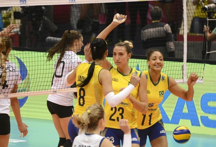 Comandado por Jaque, Brasil vence Alemanha e vai às finais do Grand Prix