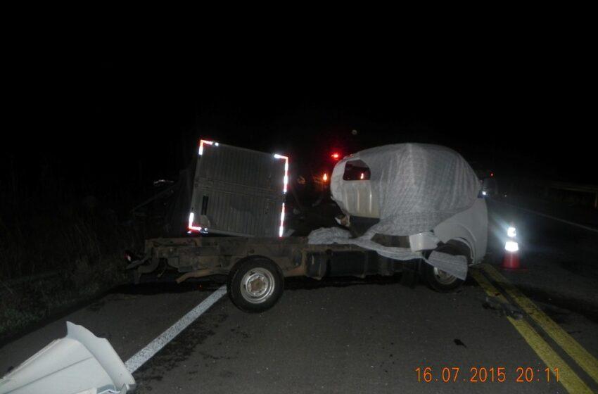 Caminhoneiro morre ao colidir frontalmente com outro caminhão na BR – 285 em Bom Jesus