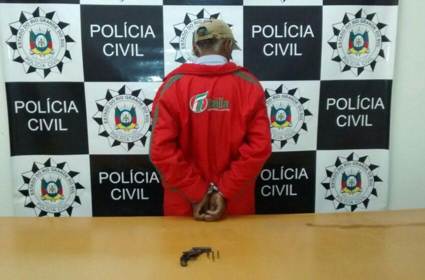 Polícia Civil prende suspeito de tentativa de homicídio no Bairro Chácara das Palmeiras