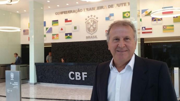 Zico visita Del Nero e recebe apoio da CBF para buscar candidatura à Fifa