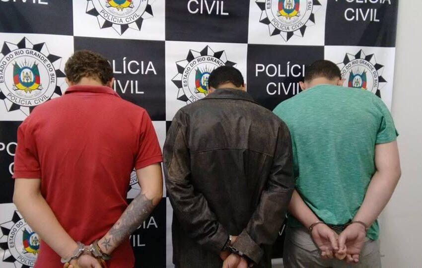 Operação da Polícia Civil – DP Vacaria, prendeu suspeitos da prática de crimes de tráfico de drogas