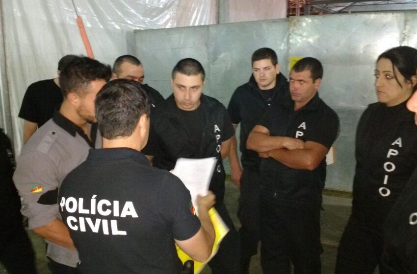 Atividades da Polícia Civil durante o Rodeio de Vacaria