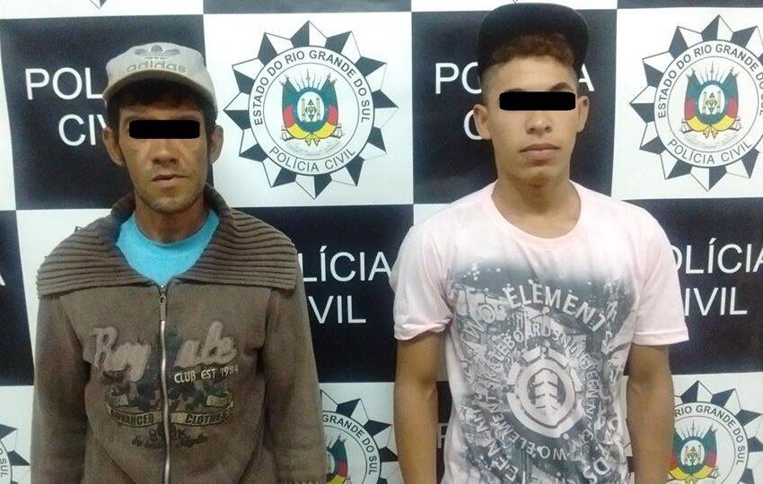 Polícia Civil prende suspeitos de atearem fogo em morador de Vacaria