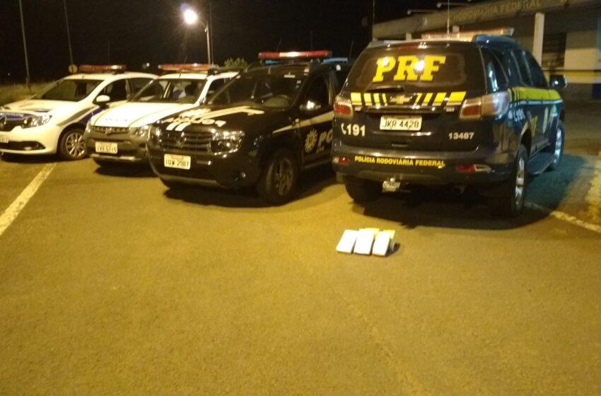 Operação da Polícia Civil, PRF, Brigada Militar e Guarda Municipal apreende 12Kg de cocaína em Vacaria